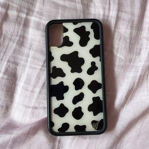 WildFlower Cow Print Case